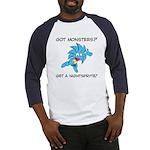 GotMons_Frnt_white Baseball Jersey