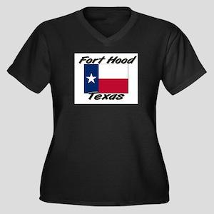 Fort Hood Texas Women's Plus Size V-Neck Dark T-Sh