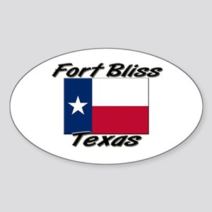 Fort Bliss Texas Oval Sticker