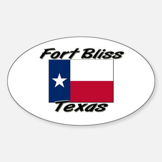 Fort Bliss Texas Oval Decal