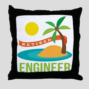 Retired Engineer Throw Pillow