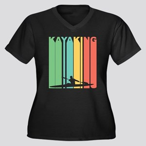Vintage Kayaking Graphic T Shirt Plus Size T-Shirt
