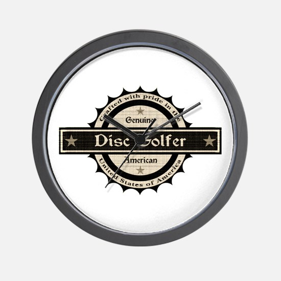 Genuine American Disc Golfer Wall Clock