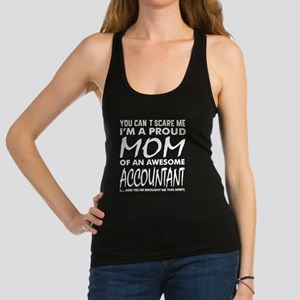 Cant Scare Me Proud Mom Awesome Accountan Tank Top