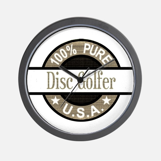 USA Disc Golfer Wall Clock