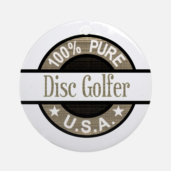 USA Disc Golfer Ornament (Round)