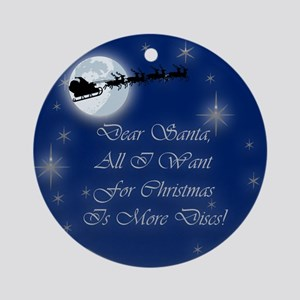Santa More Discs Christmas Ornament (Round)