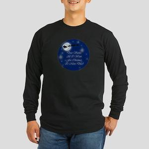 Santa More Discs Christmas Long Sleeve Dark T-Shir