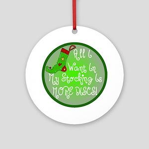 Stocking Discs Christmas Ornament (Round)