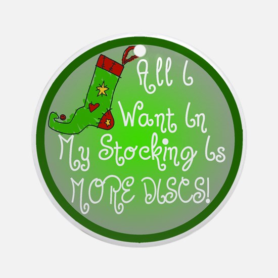 Stocking Discs Christmas Ornament (Round)