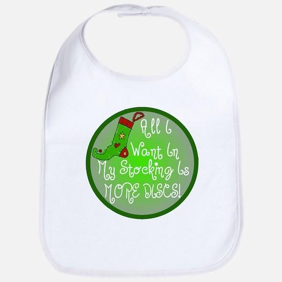 Stocking Discs Christmas Bib