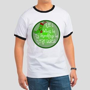 Stocking Discs Christmas Ringer T