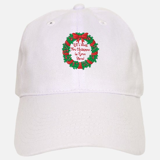 Wreath Disc Golf Christmas Baseball Baseball Cap