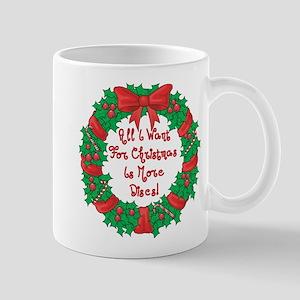 Wreath Disc Golf Christmas Mug
