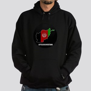 Flag Map of Afghanistan Hoodie (dark)