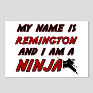 my name is remington and i am a ninja Postcards (P
