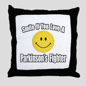 """""""Love a Parkinson's Fighter"""" Throw Pillow"""