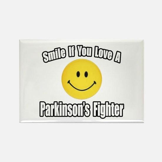 """Love a Parkinson's Fighter"" Rectangle Magnet"