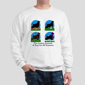 Cocker Spaniel: for all seasons Sweatshirt