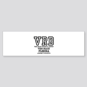 AIRPORT CODES - VRB - VERO BEACH, F Bumper Sticker