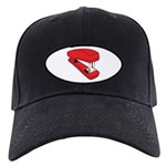 Red Stapler Black Cap