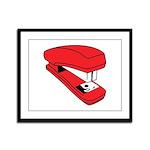 Red Stapler Framed Panel Print