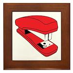 Red Stapler Framed Tile