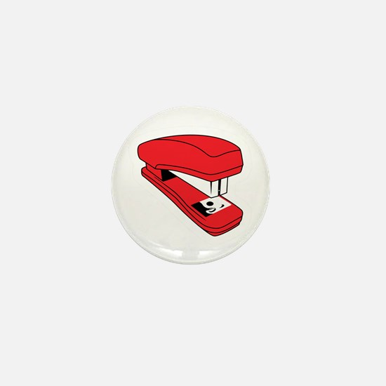 Red Stapler Mini Button