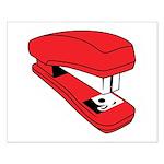 Red Stapler Small Poster
