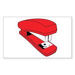 Red Stapler Rectangle Sticker 10 pk)