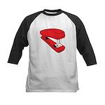 Red Stapler Kids Baseball Jersey
