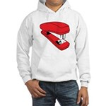 Red Stapler Hooded Sweatshirt