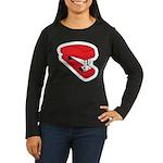 Red Stapler Women's Long Sleeve Dark T-Shirt