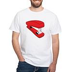Red Stapler White T-Shirt