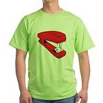 Red Stapler Green T-Shirt
