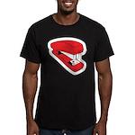Red Stapler Men's Fitted T-Shirt (dark)