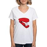Red Stapler Women's V-Neck T-Shirt