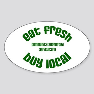 CSA Local Eats - Oval Sticker