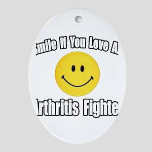 """Love an Arthritis Fighter"" Oval Ornament"