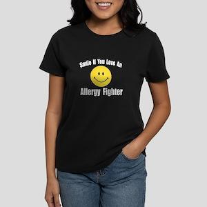 """""""Love an Allergy Fighter"""" Women's Dark T-Shirt"""