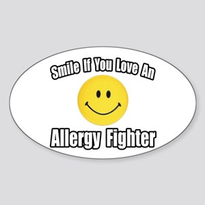 """Love an Allergy Fighter"" Oval Sticker"