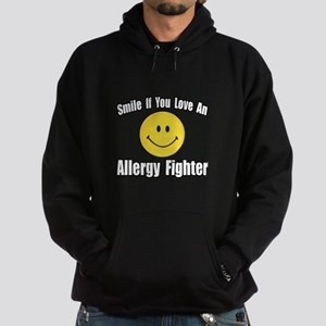 """Love an Allergy Fighter"" Hoodie (dark)"