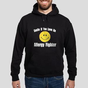 """""""Love an Allergy Fighter"""" Hoodie (dark)"""