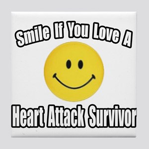 """Love..Heart Attack Survivor"" Tile Coaster"