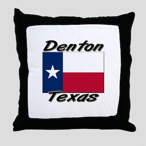 Denton Texas Throw Pillow