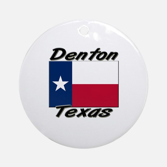Denton Texas Ornament (Round)
