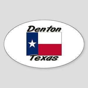 Denton Texas Oval Sticker