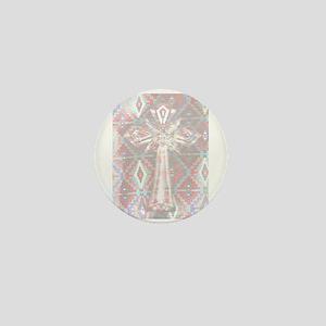 Cross Clear/Southwest Background Mini Button (100