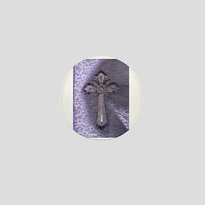 Cross Purple/ Mini Button (10 pack)