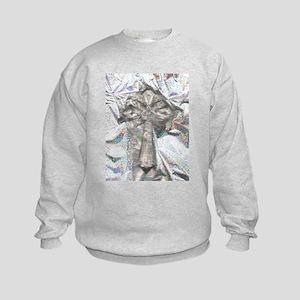 Cross/Clear/Rainbow Bkgrd/ Kids Sweatshirt